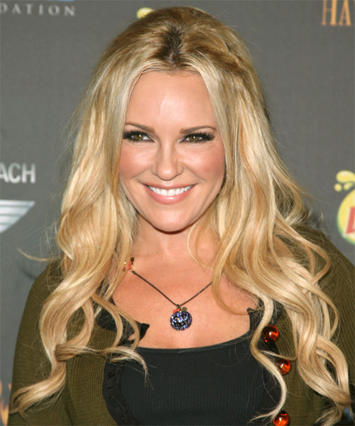 Bridget Marquardt Long Wavy Casual    Hairstyle   -  Golden Blonde Hair Color with Light Blonde Highlights