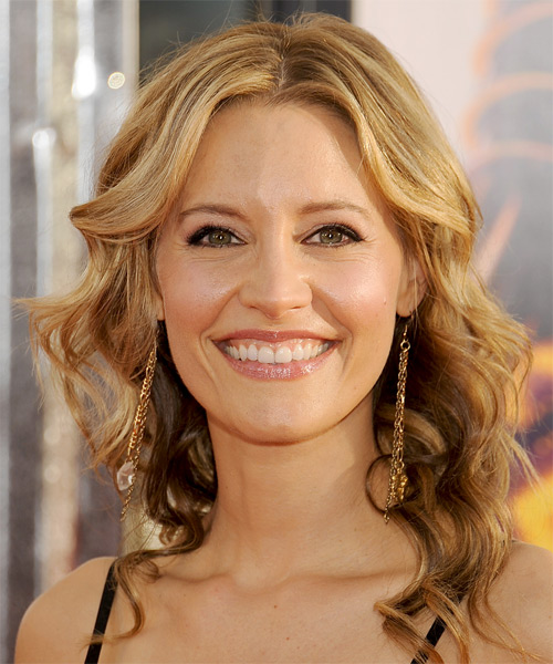 KaDee Strickland Long Wavy Formal    Hairstyle   - Honey Hair Color with Light Blonde Highlights