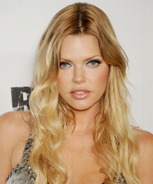Sophie Monk Long Wavy Casual   Hairstyle   - Medium Blonde (Golden)