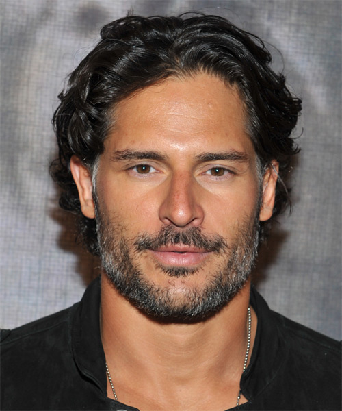 Joe Manganiello Short Wavy   Black    Hairstyle
