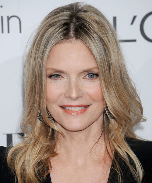Michelle Pfeiffer Long Straight Casual   Hairstyle   - Medium Blonde (Champagne)