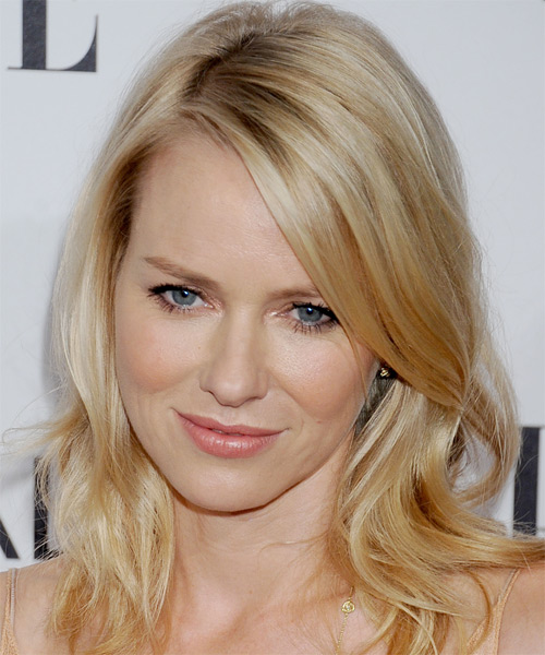 Naomi Watts Medium Straight Casual    Hairstyle   - Light Golden Blonde Hair Color with Light Blonde Highlights