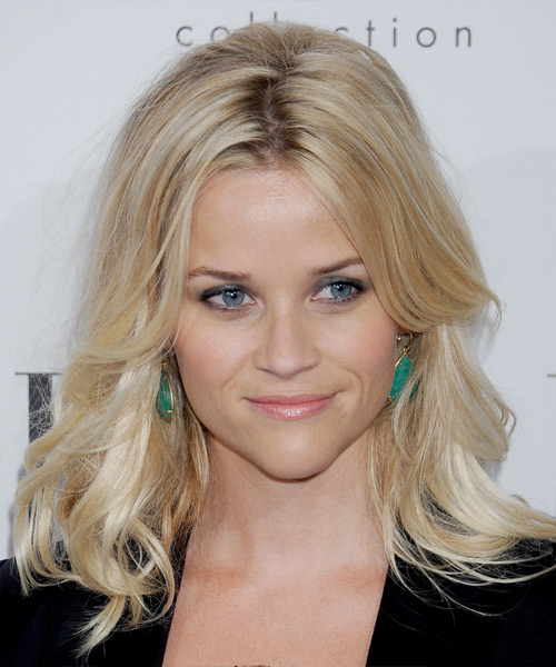 Reese Witherspoon Long Straight Formal    Hairstyle   - Light Blonde Hair Color