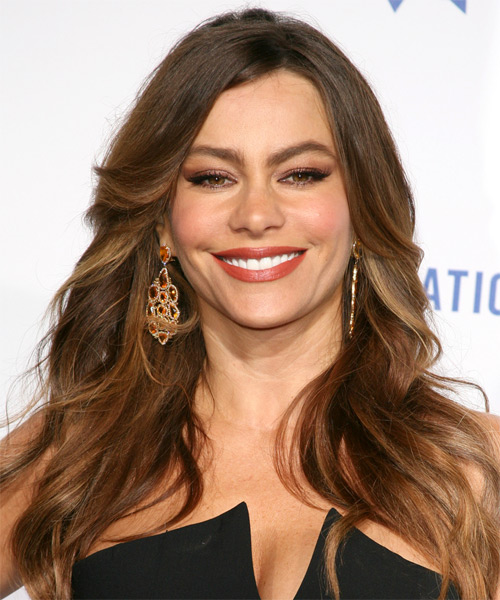 Sofia Vergara Long Straight Casual   Hairstyle   - Medium Brunette