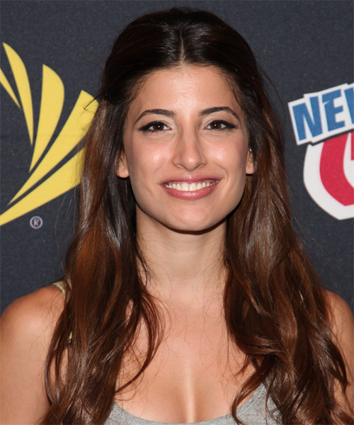 Tania Raymonde Half Up Long Curly Casual  Half Up Hairstyle   - Dark Brunette (Chocolate)