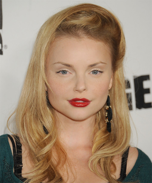 Izabella Miko Long Straight Formal   Hairstyle   - Medium Blonde (Golden)