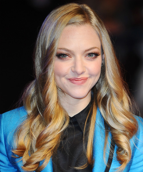 Amanda Seyfried Long Wavy Formal Hairstyle Dark Blonde