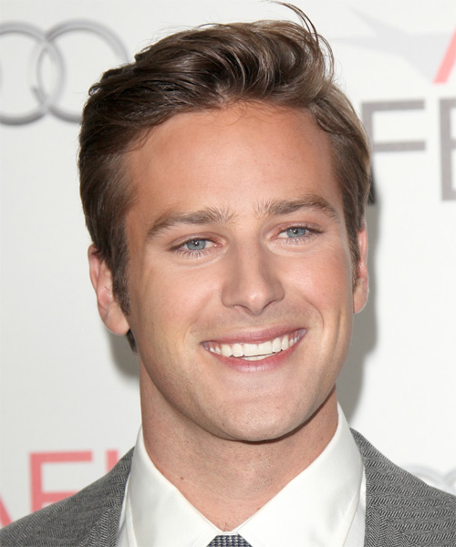 Armie Hammer  Short Straight   Light Brunette   Hairstyle