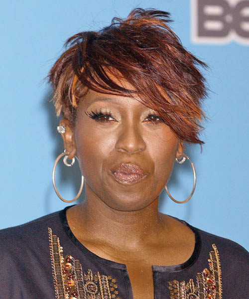 Missy Elliott Short Straight Alternative   Hairstyle