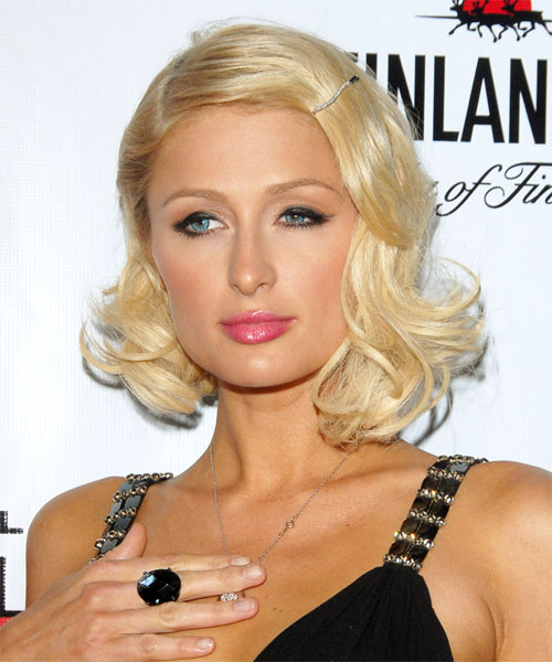 Paris Hilton Medium Wavy Formal   Hairstyle