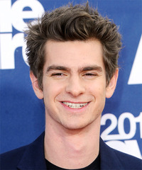 Andrew Garfield Short Straight Casual    Hairstyle   -  Ash Brunette Hair Color