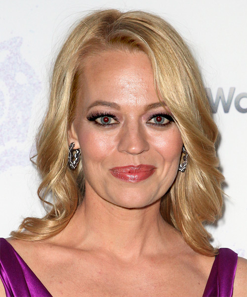Jeri Ryan Medium Wavy Formal   Hairstyle   - Medium Blonde