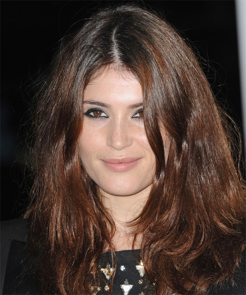 Gemma Arterton Long Straight Casual    Hairstyle   -  Chocolate Brunette Hair Color
