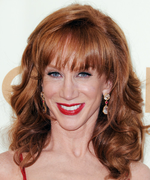 haircuts for thin hair pictures kathy griffin medium wavy formal hairstyle with layered 5321