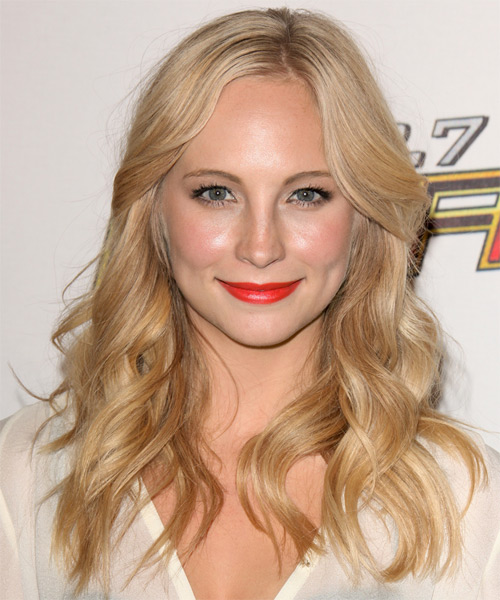Candice Accola Long Wavy Casual   Hairstyle   - Medium Blonde