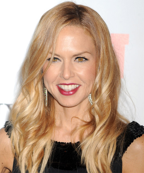 Rachel Zoe Long Wavy Casual   Hairstyle   (Golden)
