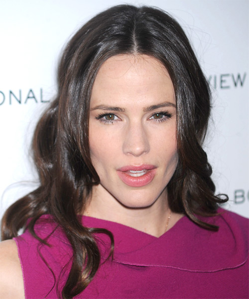 Jennifer Garner Long Wavy Formal    Hairstyle   - Dark Brunette Hair Color