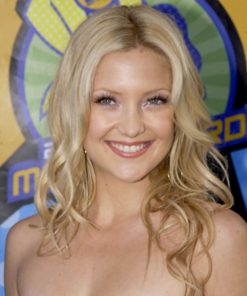 Kate Hudson Long Wavy Casual    Hairstyle   -  Golden Blonde Hair Color with Light Blonde Highlights
