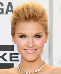 Emily Rose  Long Straight    Golden Blonde  Updo    with Light Blonde Highlights