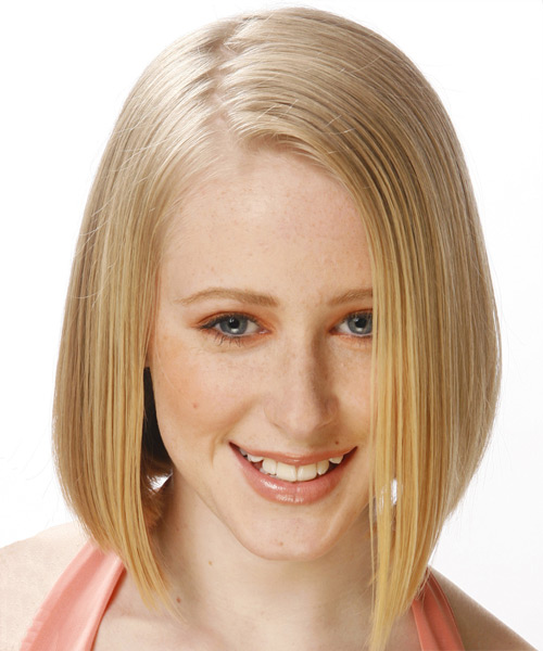 Medium Straight Formal    Hairstyle   -  Honey Blonde Hair Color