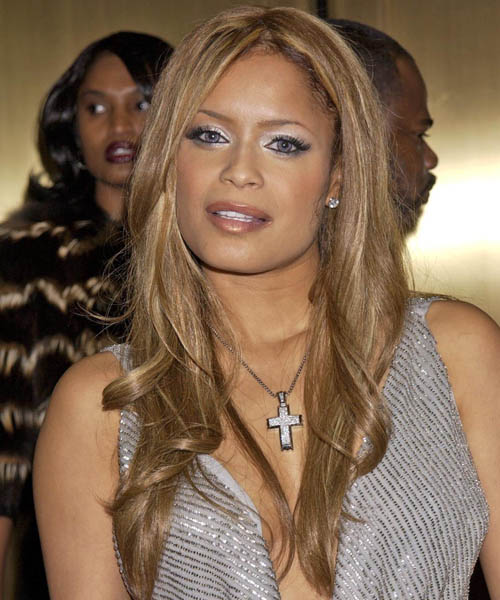 Blu Cantrell Long Wavy Formal   Hairstyle