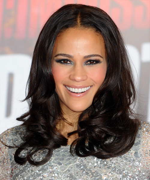 Paula Patton Long Wavy Formal Hairstyle Black