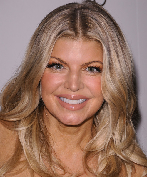 Fergie Long Straight Casual   Hairstyle   - Medium Blonde (Champagne)