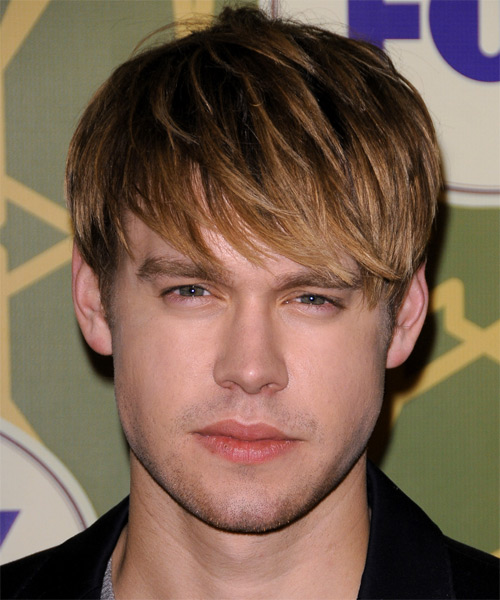 Chord Overstreet Medium Straight Casual   Hairstyle with Layered Bangs  - Dark Brunette