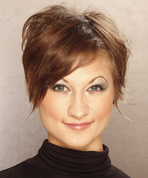 Short Straight   Light Caramel Brunette   Hairstyle