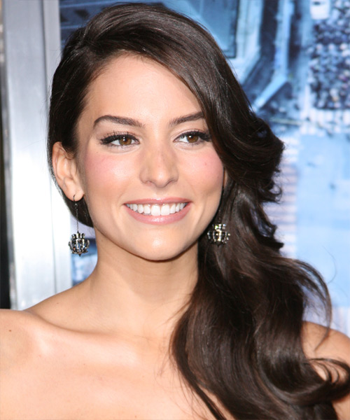 Genesis Rodriguez Long Wavy Formal   Hairstyle   - Dark Brunette (Mocha)