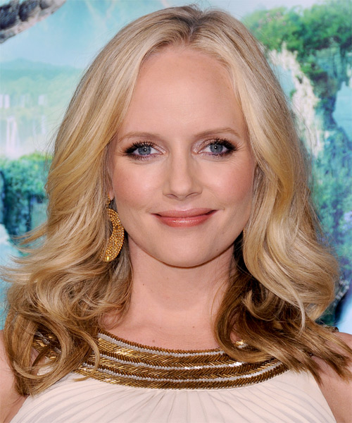 Marley Shelton Medium Wavy Casual   Hairstyle   - Light Blonde