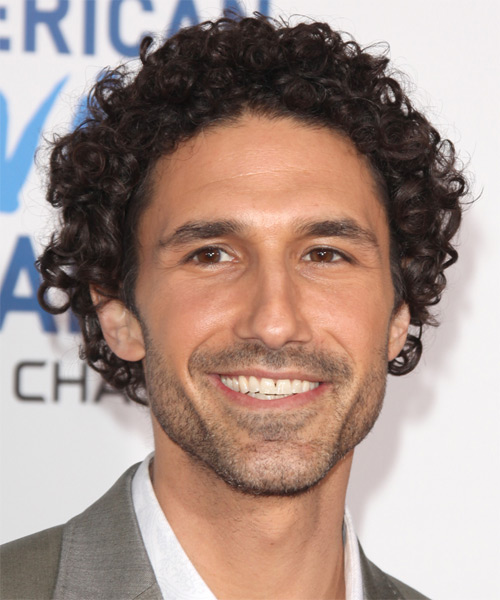 Ethan Zohn Medium Curly Casual    Hairstyle   - Dark Brunette Hair Color