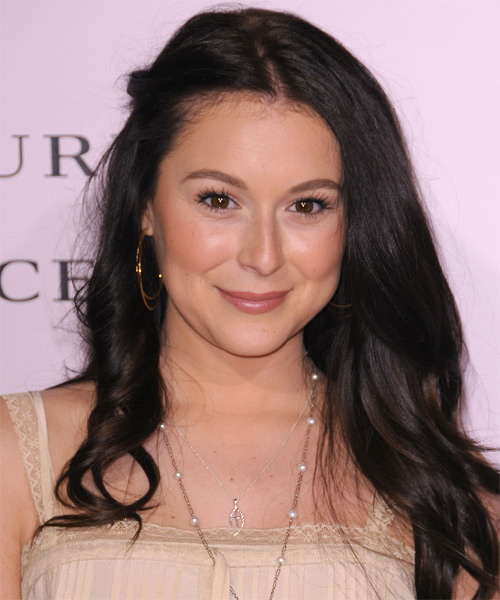 Alexa Vega  Long Curly   Black   Half Up Hairstyle