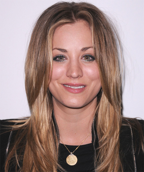 Kaley Cuoco Long Straight Casual    Hairstyle   - Dark Blonde Hair Color