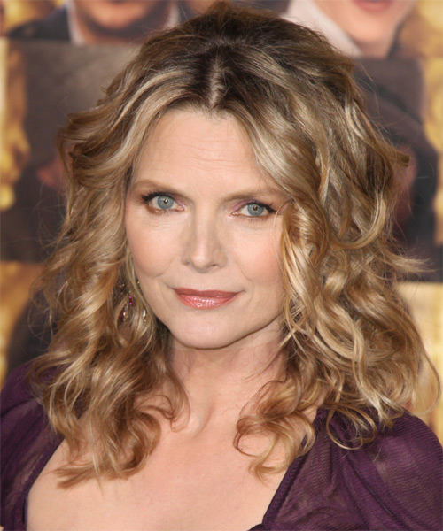 Michelle Pfeiffer Medium Wavy Casual   Hairstyle   - Medium Blonde