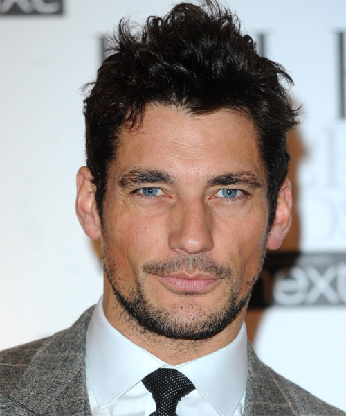 David Gandy Short Straight Casual   Hairstyle   - Black