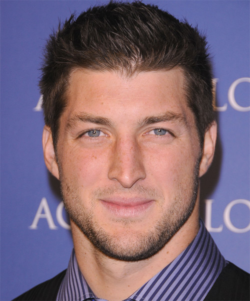 Tim Tebow Short Straight Casual Hairstyle Brunette Hair Color
