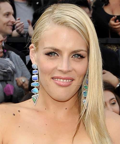 Busy Philipps Long Straight Casual   Hairstyle   - Light Blonde (Champagne)