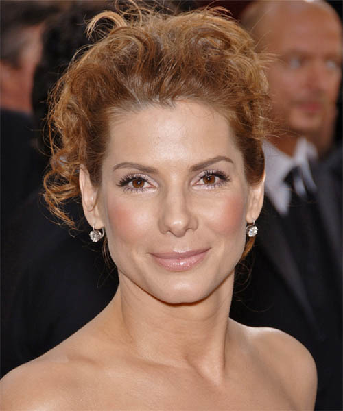 Sandra Bullock  Long Curly Formal   Updo Hairstyle