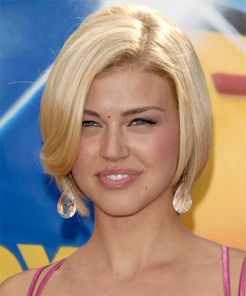Adrianne Palicki Short Straight Formal   Hairstyle