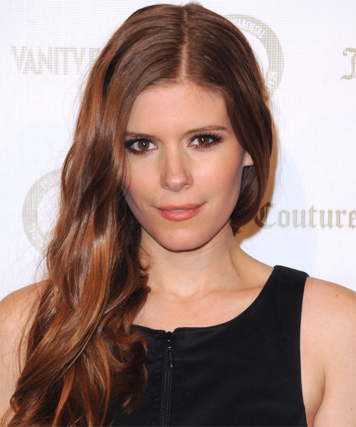 Kate Mara Long Straight    Auburn Red   Hairstyle