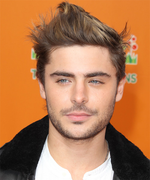 Zac Efron Short Straight Alternative   Hairstyle   - Light Brunette