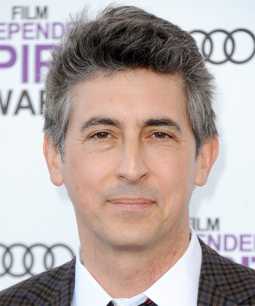 Alexander Payne Short Straight Casual   Hairstyle   - Medium Grey (Salt and Pepper)