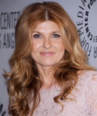 Connie Britton Long Wavy Casual    Hairstyle   - Light Strawberry Red Hair Color