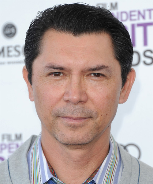 Lou Diamond Phillips Short Straight Formal   Hairstyle   - Black