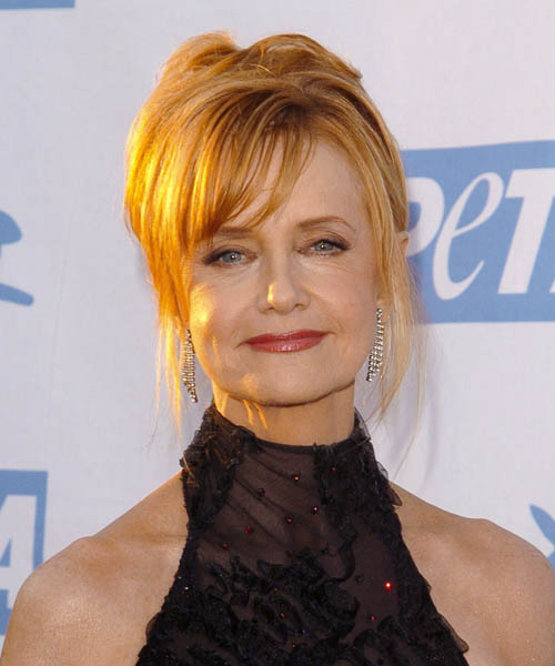 Swoosie Kurtz  Medium Straight Formal   Updo Hairstyle