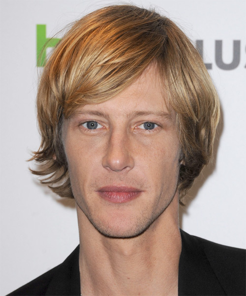 Gabriel Mann Short Straight Casual   Hairstyle with Layered Bangs  - Dark Blonde (Golden)