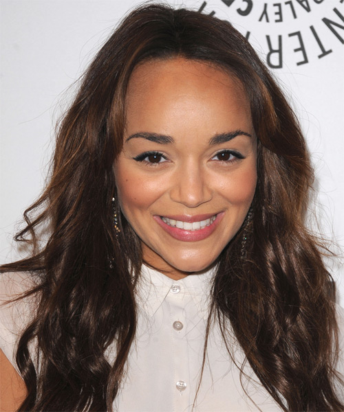 Ashley Madekwe  Long Straight Casual    Hairstyle   - Medium Chocolate Brunette Hair Color