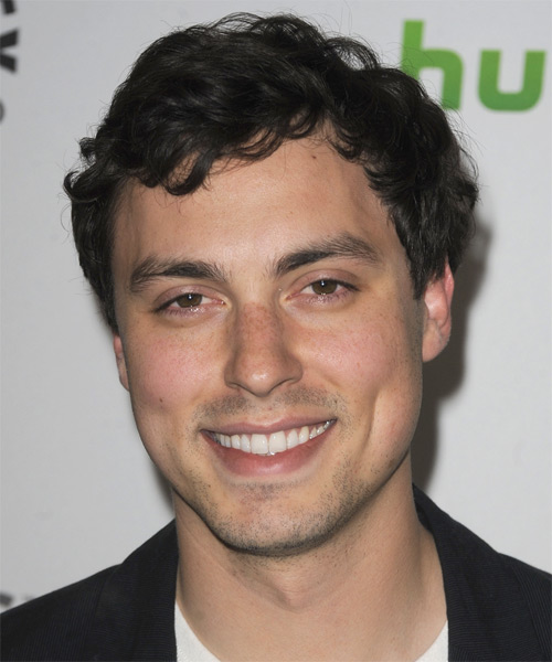 John Francis Daley  Short Wavy Casual   Hairstyle   - Black