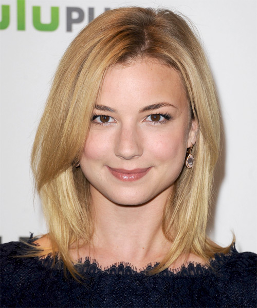 Emily VanCamp Medium Straight Formal   Hairstyle with Side Swept Bangs  - Medium Blonde (Champagne)